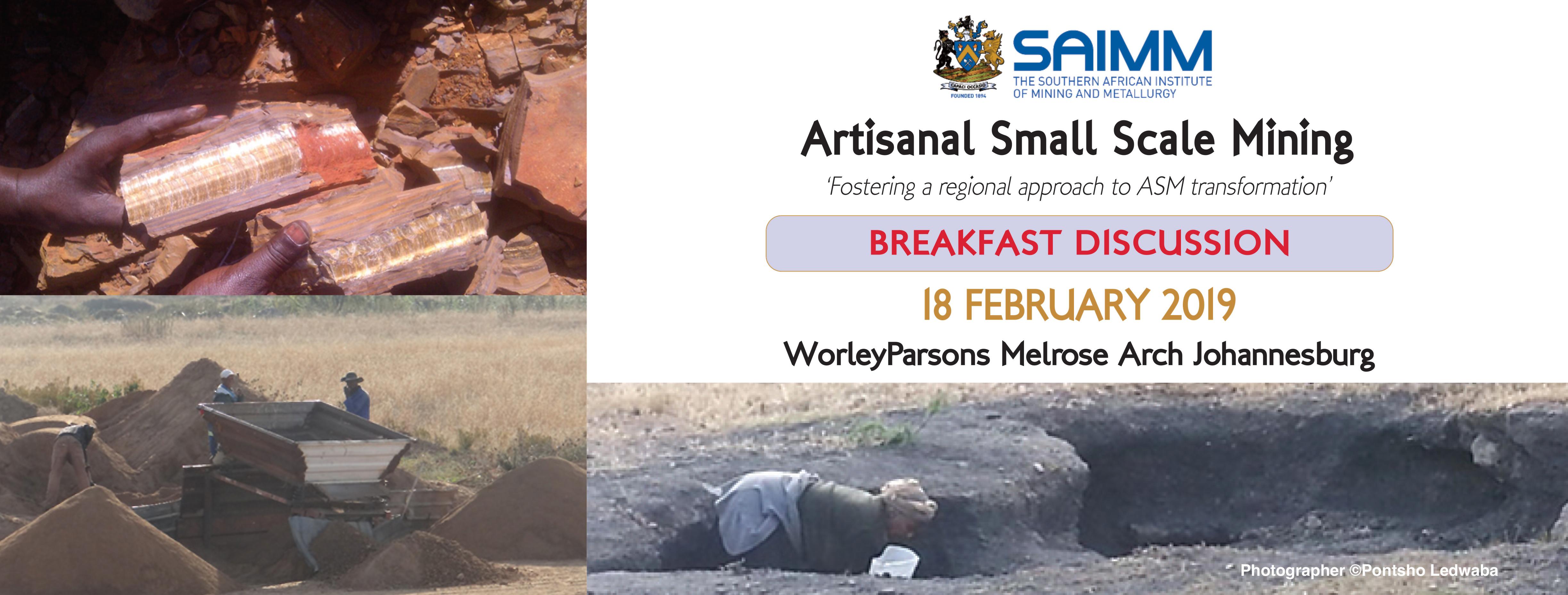 SAIMM - Artisanal Small Scale Mining - Breakfast ...