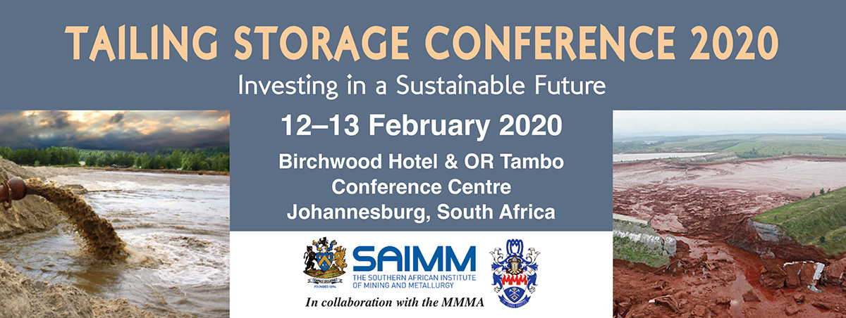 SAIMM - Tailing Storage Conference 2020-Upcoming Events